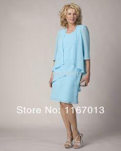 a50da2838 2015 cielo azul de encargo longitud de la rodilla gasa lf2739 madre de la  novia viste