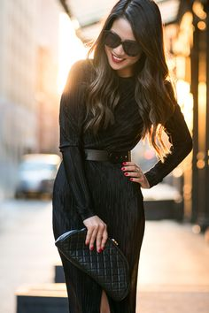 LBD in NYC :: Pleated dress
