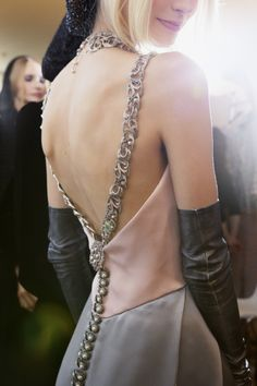 Backstage at Chanel Haute Couture Fall 2012