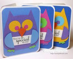 Sizzix bigz owl cards