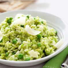 This no-fuss risotto recipe is made in the microwave — in 30 minutes! #myplate #grains #vegetables #dairy