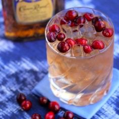 Fresh cranberries compliment warm Canadian whiskey in this festive cocktail.  It's the ideal drink for sipping fireside!