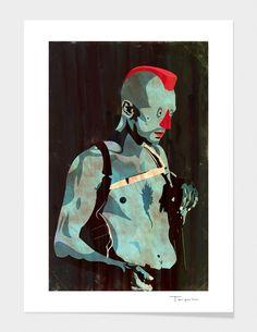 """Travis"" - Numbered Art Print by Alvaro Tapia Hidalgo on Curioos"