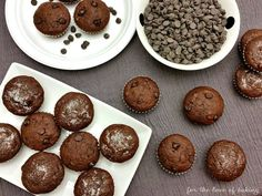 Double Chocolate Banana Muffins | For the Love of Baking