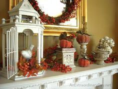 Fall Mantel Decorating :: Elegant Simplicity :: AnExtraordinaryDay.net