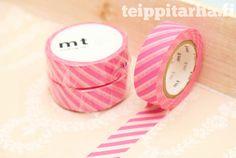 Vinoraita (pinkki) masking tape