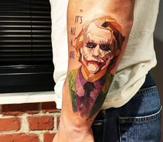 Joker tattoo by Eva Krbdk