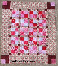 The Quilt Ladies Book Collection: Valentine's Table Topper - Part 2