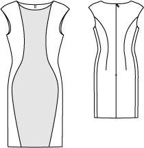 Платье-футляр Журнал:Burda 9/2012Выкройка №:121
