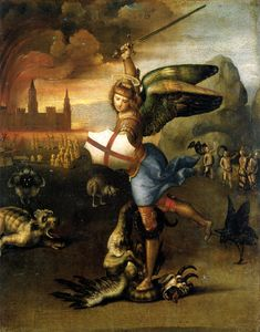 """Képtalálat a következőre: """"michael and the dragon"""""""