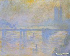 Charing Cross Bridge Artwork by Claude Oscar Monet