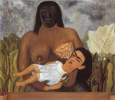 My Nurse and I - Frida Kahlo - Naïve Art (Primitivism), 1937