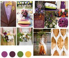 Eggplant and Mustard Color Fall Wedding