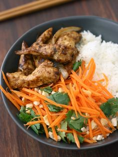 Stir-Fried Lemongrass Ginger Chicken by SeasonWithSpice.com. delete the rice and replace with zoodles