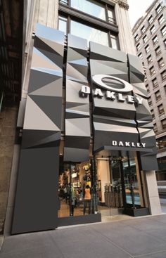 Oakley Avenue Flagship Store by Suyama Peterson Deguchi, New York City vm sports fashion eyewear store design Retail Facade, Shop Facade, Building Facade, Mall Facade, Retail Architecture, Commercial Architecture, Architecture Design, Entrance Design, Facade Design