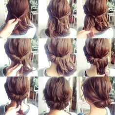 25 fast hairstyles for medium and long hair for every day. - hairstyleto - 25 fast hairstyles for medium and long hair for every day. – hairstyleto 25 fast hairstyles for medium and long hair for every day. Fast Hairstyles, Pretty Hairstyles, Wedding Hairstyles, Simple Hairstyles, Hairstyle Short, Hairstyle Ideas, Pixie Hairstyles, Simple Hairdos, Braided Hairstyles