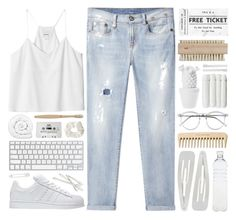 """""""Serenity"""" by azures ❤ liked on Polyvore featuring Brinkhaus, R13, Forever 21, Wildfox, Seletti, Linum Home Textiles, Supersmile, adidas, Monki and ferm LIVING"""