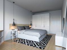 Sypialnia w stylu skandynawskim. Aranżacja sypialni. Zobacz więcej na: https://www.homify.pl/katalogi-inspiracji/99767/11-wspanialych-sypialni-w-stylu-skandynawskim