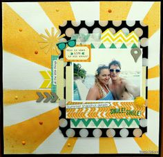 #papercraft #scrapbook #layout    Summer Snapshots by Tarrah - Two Peas in a Bucket