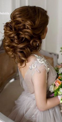 Wedding updo hairstyle idea; Featured Elstile