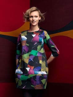 Talven muotia 8 | Marimekko This is a new item for Winter 2014 to purchase. I posted it because I love the easy shape… must make one. …shared by Vivikene
