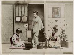 C 1890's Photo Japan Three Singing Girls | eBay