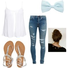 Casual Day by ballergirl02 on Polyvore featuring polyvore fashion style New Look Yves Saint Laurent Aéropostale