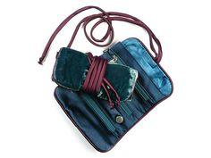 Jewellery Roll - Teal Velvet Fair Trade Jewelry, Jewelry Roll, Fashion Backpack, Rolls, Teal, Velvet, Jewellery, Bags, Handbags