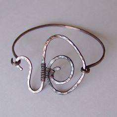 Copper Artisan Bracelet  Hammered Copper Bracelet by StoneDelite, $22.00