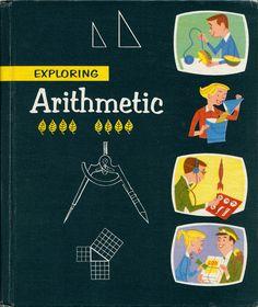 Book cover, Exploring Arithmetic, 1957. Illus by George Bergfeld or Obata & Associates.