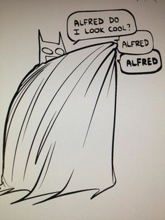 Twitter / nedroid: Batman practice - why does this make me giggle so much?!