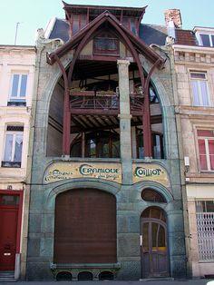 Hector Guimard (1867-1942) - Maison Coilliot. 14, Rue de Fleurus, Lille, France. Circa 1898.