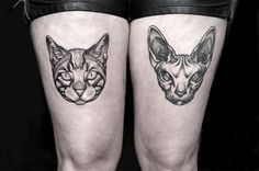 30 Tattoos For Cat Lovers