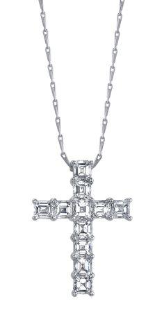 McCaskill & Company Destin, Florida #diamondcross #diamondnecklace #diamonds