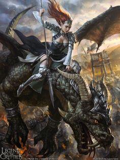 fantasy and science fiction — phrrmp: Legend of the Cryptids - Calatona adv. Fantasy Warrior, Warrior Girl, Fantasy Inspiration, Character Inspiration, Character Art, Fantasy Women, Fantasy Girl, Fantasy Artwork, Fantasy Creatures
