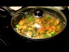 I wanna try-chicken green curry - cook chicken and curry first