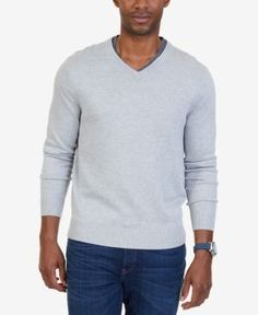Nautica Men's Big & Tall V-Neck Sweater - Blue 2XLT