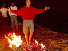 Image result for tony robbins fire walk