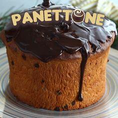 Chocolate Chip Panettone Recipe, Chocolate Recipes, Chocolate Chip Cookies, Chocolate Chips, Panettone Cake, Milk Recipes, Sweet Recipes, Baking Recipes, Bread Recipes