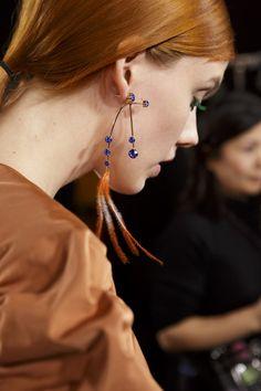 Dries Van Noten at Paris Fashion Week Fall 2018 - Backstage Runway Photos