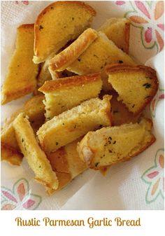 Rustic Homemade Parmesan Garlic Bread » Skinny Sweets Daily