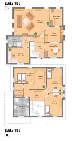Leben und Arbeiten unter einem Dach mit unserem Edita 185.  All unsere Häuser sind optional auch mit Keller möglich.