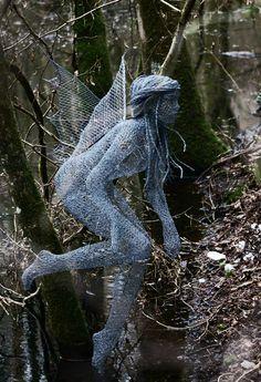 Wire sculpture by Derek Kinzett - fairy