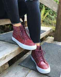 54f2ce9e80 Better in any weather  The Pebble Leather Sk8-Hi 46 MTE Get out and ·  Leather High Top VansLeather ...