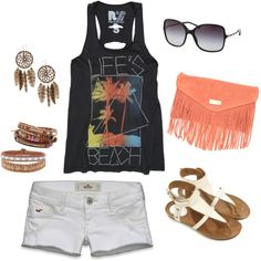 Life's Beach.. the fringe clutch and chanels make this outfit