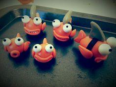 Dee Raa Arts polymer clay sculpey fimo jaws shark goldfish cartoon cute kawaii