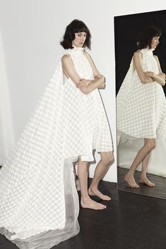 Katharine Polk Bride 2013 Ready-to-Wear, a modern rendition of a watteau back