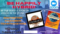 Be happily hybrid! Either Zoom or join us in the room this Thursday - We're the only local #Toastmasters club online & in-person - Log-in just before 7 a.m. CST USA - Email us at rochestertoastmasters@gmail.com for a #Zoom link #d6tm #rochmn #rochester_mn #minnesotas_rochester #publicspeaking #leadership #dmcmn #zoommeetings