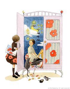 rie nakajima  mi piacerebbe aver un armadio così bello!!!!!