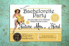 Printable Pinup Bachelorette Invitation by LoboDesign on Etsy, $20.00